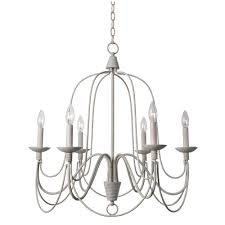 kenroy home pannier 6 light white chandelier
