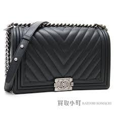 kaitorikomachi chanel boy chanel flap bag chevron quilting black leather large chain shoulder bag chain bag v stitch a92193 22 boy chanel large flap bag
