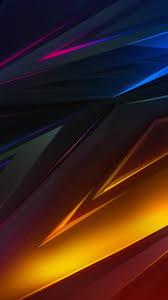 Abstract Dark Colorful Digital Art 4K ...