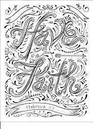 Absolutely Design Printable Scripture Coloring Pages Faith Page Free