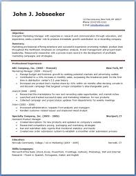 Professional Resume Template Free Download