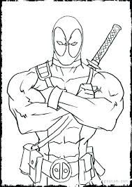 Baby Deadpool Coloring Pages Lovely New Deadpool Coloring Fresh
