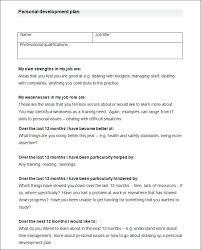 personal development portfolio template. Sample Personal Development Plan Template Free Resource Human