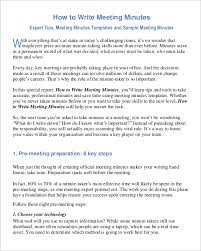 Corporate Meeting Minutes Examples 24 Corporate Meeting Minutes Templates Free Word Doc Pdf