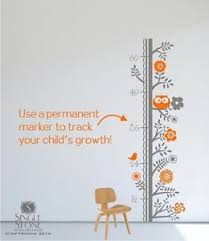 Woodland Growth Chart Details About Wall Decals Growth Chart Woodland Nursery Vinyl Wall Stickers Art