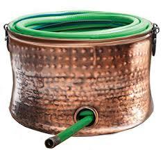 copper plated hose holder storage pot