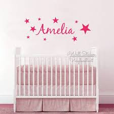 stars name wall sticker children name wall decal baby nursery star