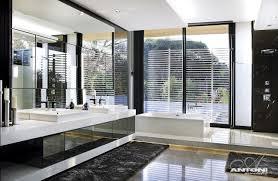 Luxurious Bathrooms Contemporary House Modern Luxury Bathroom Black Mirror Lights