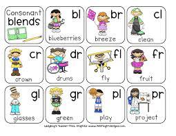 Consonant Blends Chart Pdf Consonant Blends Kindergarten