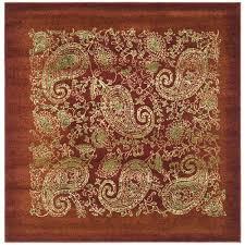 safavieh lyndhurst red area rug 8 x 8 square