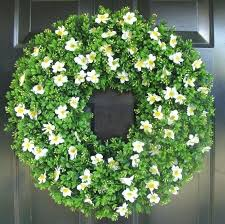 boxwood spring wreath front door decor outdoor summer faux wreaths