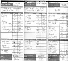 Exercise Logs Template Free Printable Daily Exercise Log Download Them Or Print