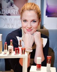 drew barrymore at the canadian launch of flower cosmetics