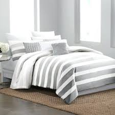 grey and white duvet cover bed bath beyond striped linen