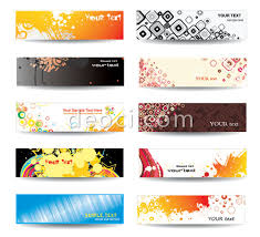 banner design template abstraction popular ink banner design templates free eps file for
