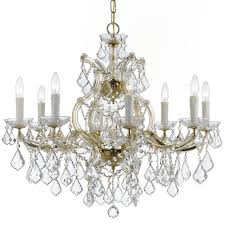 crystorama maria theresa 9 light clear swarovski strass crystal gold chandelier i