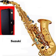 B Flat Soprano Sax Finger Chart Suzuki Curved Sax Top B Flat Sax Small Saxophone Soprano Adult Children Wind Musical Instruments Free Delivery Soprano Sax Hard Boxs Alto Saxophone