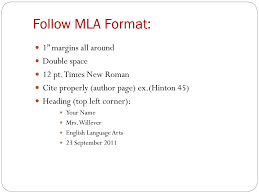 Ppt Follow Mla Format Powerpoint Presentation Id5521763