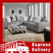 albany stonewash 464 sectional sofa