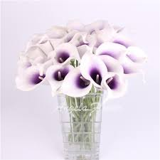 HI Q Colorful 1PCS Artificial decorative flowers PU Real Touch Mini Calla  Lily Wedding flower bouquet for HOME table decoration-in Artificial & Dried  ...