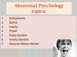 psychology term paper topics abnormal psychology topics