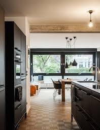 Matte Black Kitchen Cabinets We Cant Get Enough Of This German Apartments Sleek Matte Black