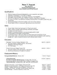 Resume For Radiologic Technologist Extraordinary Leave Radiologic Technologist Resumes Resume Entry Level Socialumco