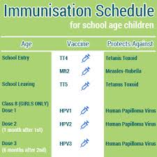 Age Chart For Shots Immunisation Ministry Of Health Medical Services