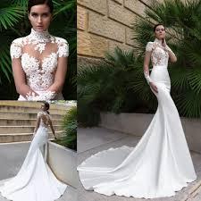 2017 new high neck crystal design sexy mermaid wedding dresses see