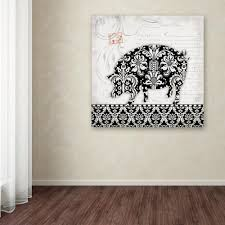 trademark fine art 18 in x 18 in pig b w by stephanie on pig canvas wall art with trademark fine art 18 in x 18 in pig b w by stephanie marrott