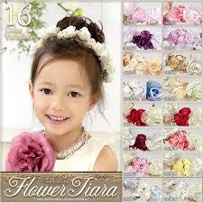 16色 キッズ 子供 カチューシャ 子供用 アクセサリー フラワーアクセ 花