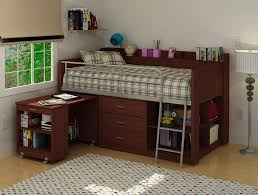 charleston storage loft bed with desk espresso bedroom rabelapp with charleston storage