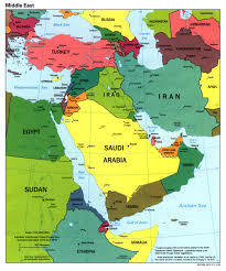 download arabian peninsula political map  major tourist