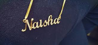 gold name pendant made in india