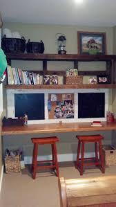 repurposed furniture for kids. Kids Homework Area. We Repurposed An Industrial Pallet For Shelves And Old Door Furniture I