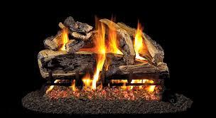 real fyre charred rugged split fireplace log set
