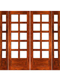 rustic 10 lite p b french solid ig glass double door sidelights by aaw french