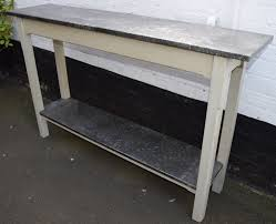 vintage console table. Vintage Style Metal Topped Console Table