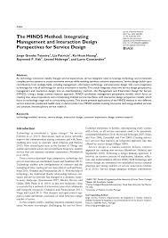 Interdisciplinary Interaction Design Pdf Pdf The Minds Method Integrating Management And