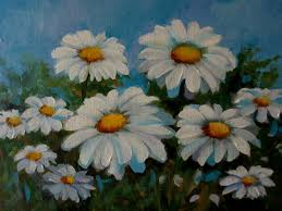 daisies acrylic on canvas panel 9 x 12 sold at 20 00 plus 7 00