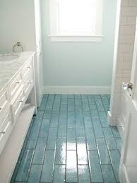 blue bathroom floor tiles. Love The Colored Floor Tiles And Coordinating Wall Color - Idea For My Rental House Bathrooms! #EastSideMojo Blue Bathroom