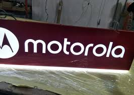 Motorola Rectangular Shaped Sign Double Sides For Cellpone Store