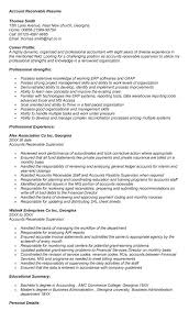 Accounts Receivable Resume Template Sample Accounts Receivable