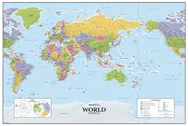 World Map Europe And Asia Asia Europe Centered World Wall Map Maps Com