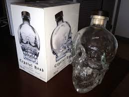 750ml crystal head vodka skull liquor bottle w original box empty