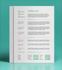Free Resume Templates Enchanting 60 Best Free Resume CV Templates in Ai Indesign PSD Formats