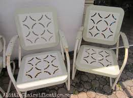 retro metal outdoor furniture. Contemporary Furniture Lovely Vintage Metal Patio Furniture Makeover A  Restoration Hardware Rescue With Retro Outdoor