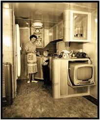 Vintage Trailer Print S Schult Mobile Home Interior - 1950s house interior
