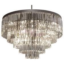 rh 1920s odeon clear glass fringe round 5 tier chandelier design