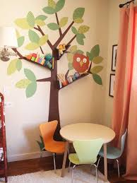 3 cartoonist trees with shelfs can enhance the kids room